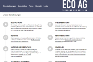 Webseite ECO AG Treuhand und Revision