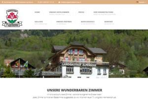 Bild der Webseite Landgasthof Alpenrose in Brienz