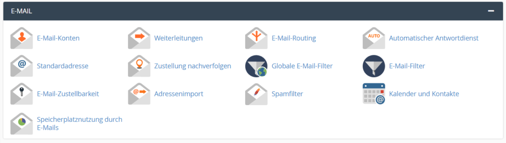 Email Konfigurationsmöglichkeiten in cPanel