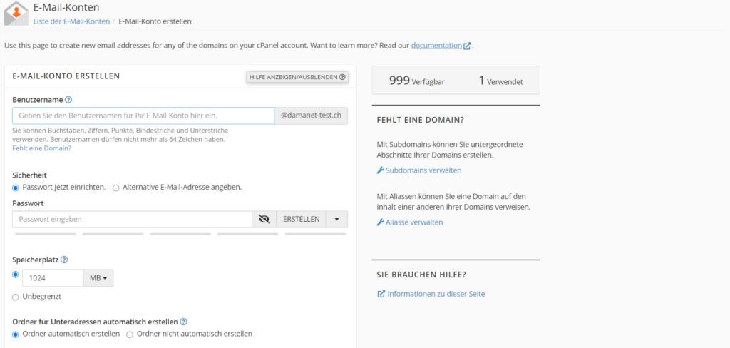 Bild - Erstellen und verwalten einer Email Adresse